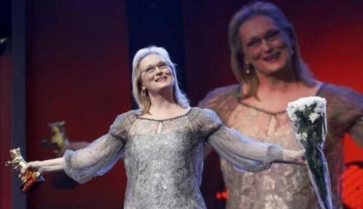 Meryl Streep recibe el Oso de Oro