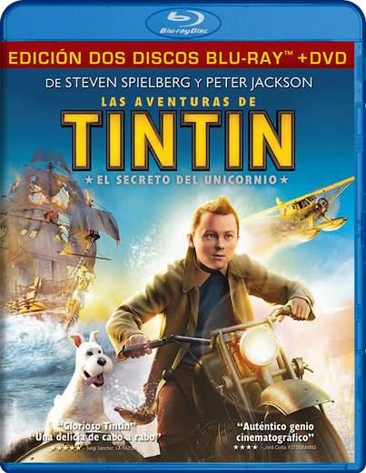 Carátulas Blu-Ray de Tintín.