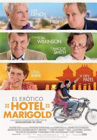 Póster de El exótico Hotel Marigold.