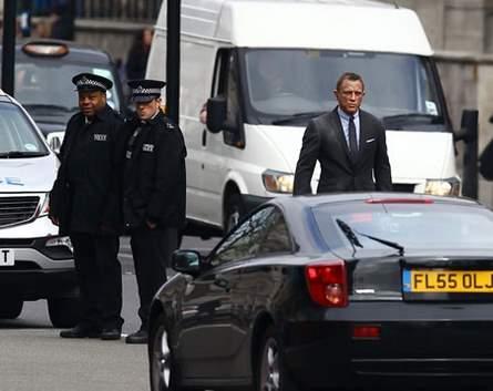 Daniel Craig en rodaje de Skyfall.