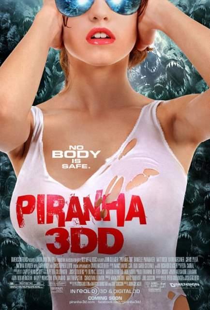 Piraña 3DD póster.
