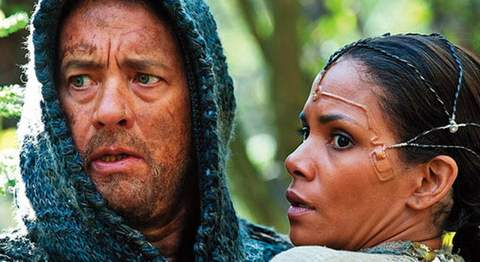 Halle Berry y Tom Hanks en Cloud Atlas.