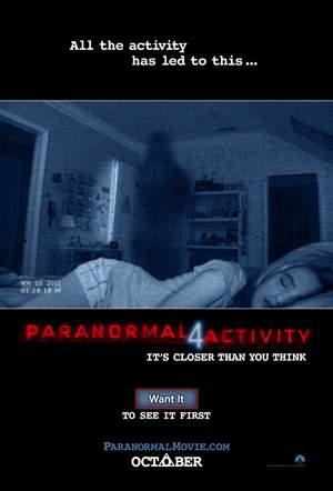 Paranormal Activity en Facebook.