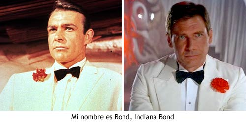 Indiana Jones y James Bond.
