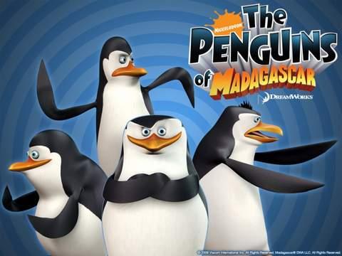 Los Pingüinos de Madagascar.