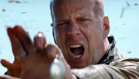 Bruce Willis en Looper.