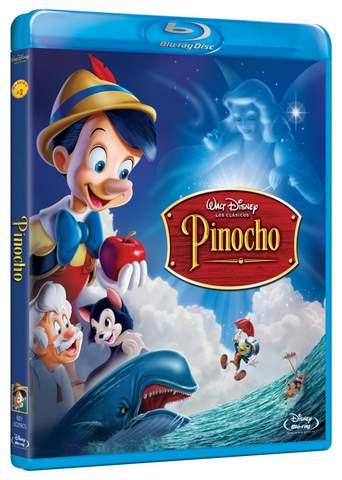Pinocho carátula Blu-ray