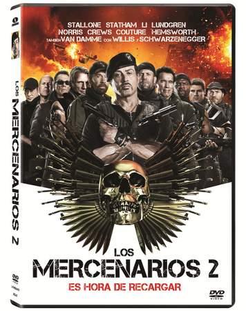 Carátula DVD 'Los Mercenarios 2'.