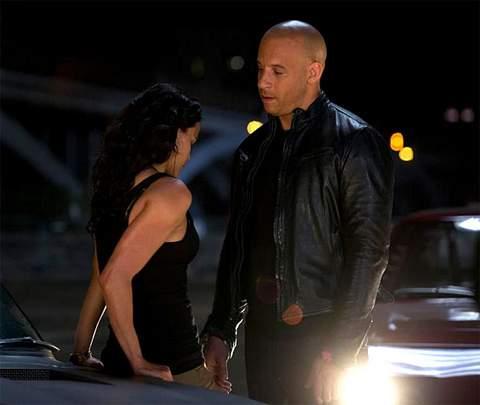 Michelle Rodriguez y Vin Diesel.