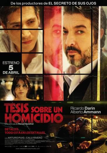 "Cartel de ""Tesis sobre un homicidio"""