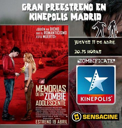 Preestreno de Memorias de un zombie adolescente
