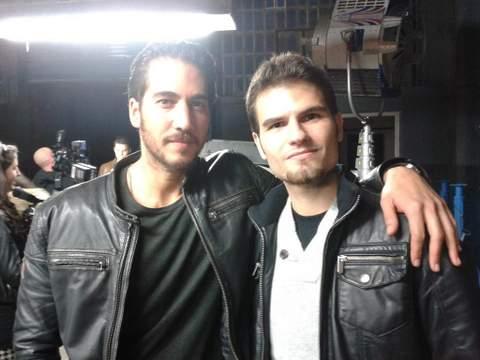 Alberto Ammann con Eduardo Quintana de Cineralia.com