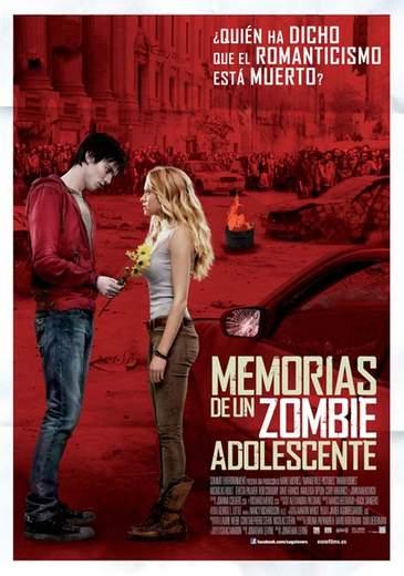 """Póster de """"Memorias de un zombie adolescente""""."""
