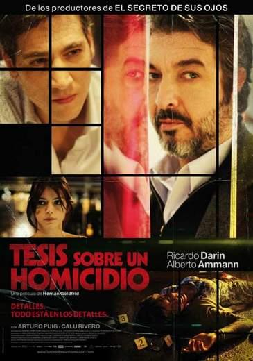"""Póster de """"Tesis sobre un homicidio"""""""