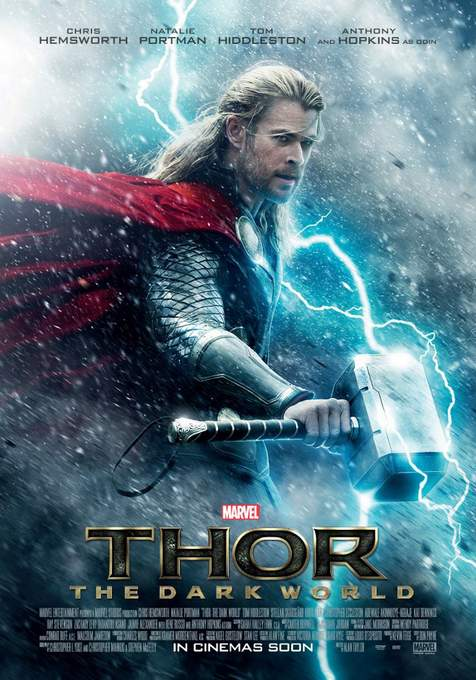 "Póster de ""Thor: El Mundo oscuro""."