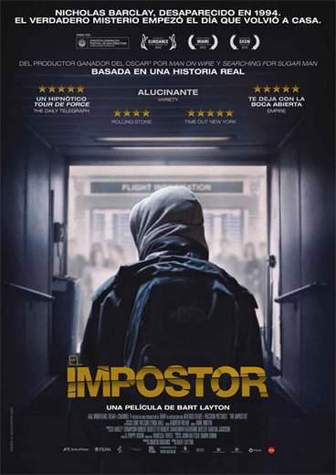 """Póster de """"El Impostor""""."""