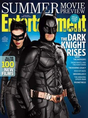 Batman y Catwoman portada de la revista Entertaiment.