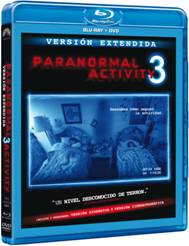 Paranormal Activity 3, ya disponible en Blu-Ray combo (DVD + Blu-Ray).