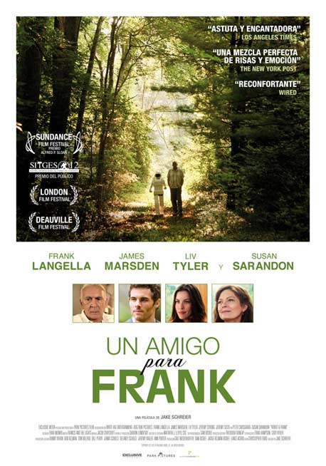 """Póster de """"Un Amigo para Frank""""."""