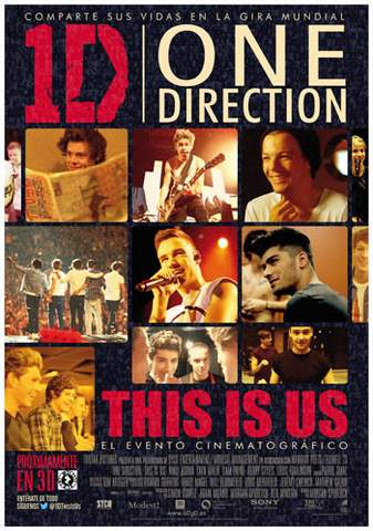"Póster ""One Direction: This is us""."
