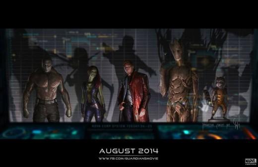 """Imagen conceptual de """"Guardianes de la Galaxia""""."""
