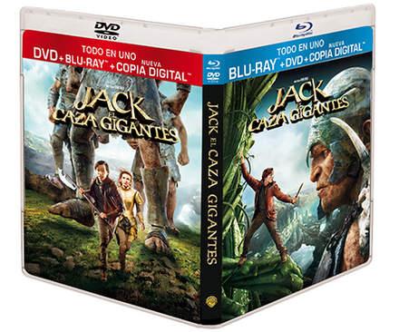 "Carátula Blu-ray ""Jack el Caza Gigantes""."