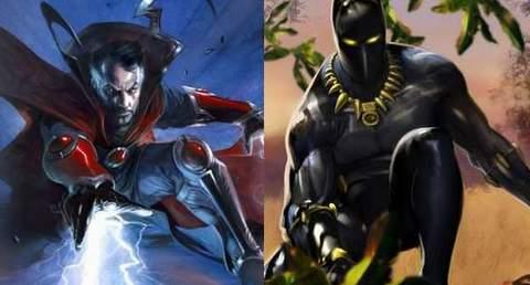 Doctor Strange y Black Panther.