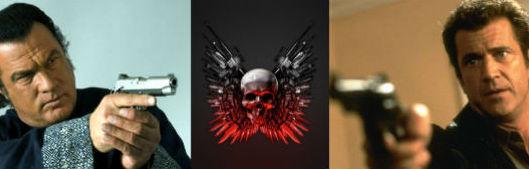 """Steven Seagal y Mel Gibson en """"Los Mercenarios 3""""."""