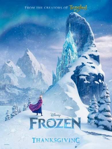 "Póster de ""Frozen"" de Disney."