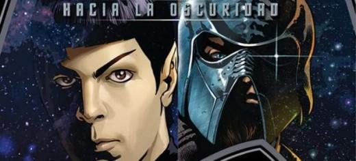 """Imagen Cómic """"Star Trek: Hacia la Oscuridad""""."""