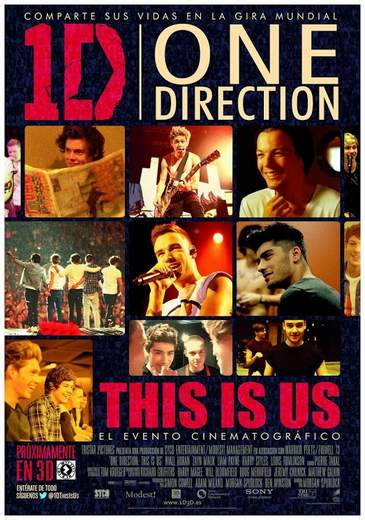 """Póster de """"One Direction This is One""""."""