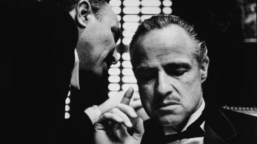 "Vito Corleone en ""El Padrino""."
