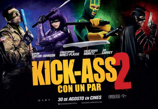 "Cartel de ""Kick-Ass 2. Con un par""."