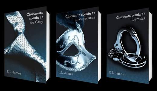 """Trilogía erótica """"50 Sombras de Grey""""."""