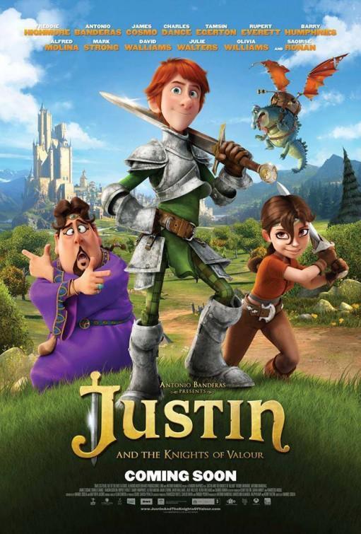 """Póster de """"Justin y la Espada del Valor""""."""
