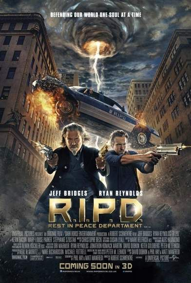 "Póster de ""R.I.P.D. Departamento de policía mortal""."