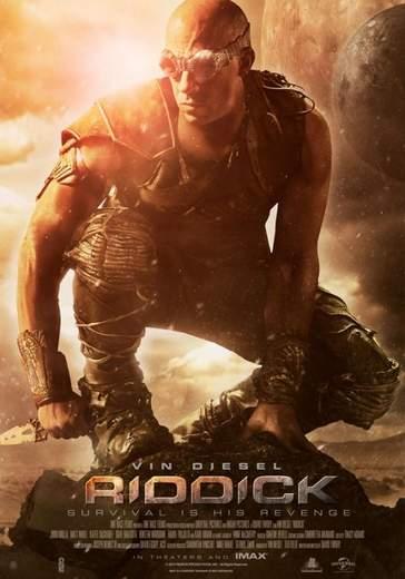 """Póster de """"Riddick""""."""