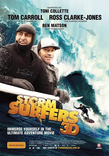 """Póster de """"Storm Surfers 3D""""."""