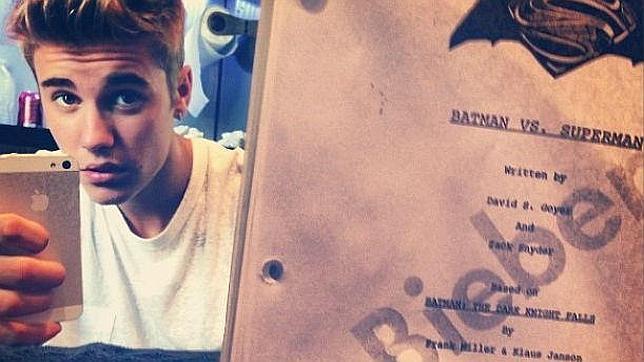 """Justin Bieber en la secuela de """"El Hombre de Acero""""."""