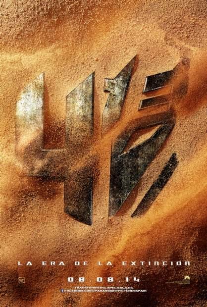"""Póster """"Transformers: La era de la extinción""""."""