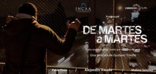 """Cartel de """"De martes a martes""""."""