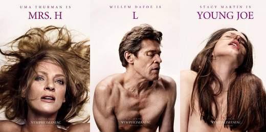 """Nymphomaniac"", pósters eróticos personajes."