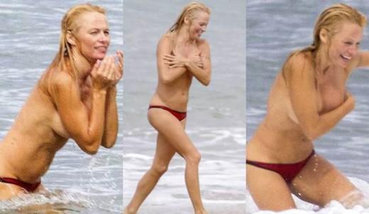 Pamela Anderson en topless.