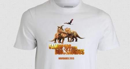 Camisetas Caminando entre dinosaurios