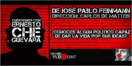 Cartel Cuestiones con Ernesto Che Guevara