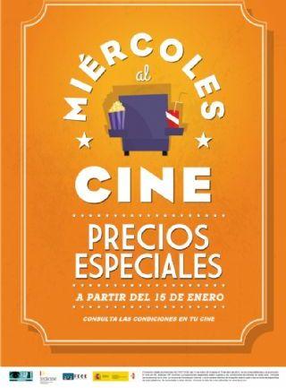 Los miércoles al cine con precios especiales