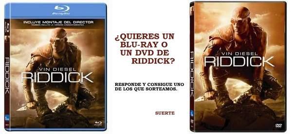 Sorteamos DVD o Blu-ray de Riddick