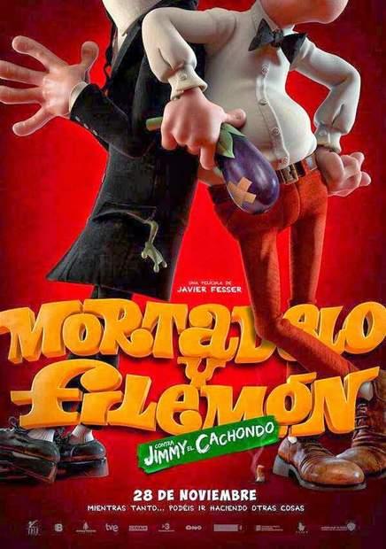 Primer póster de Mortadelo y Filemón contra Jimmy el cachondo