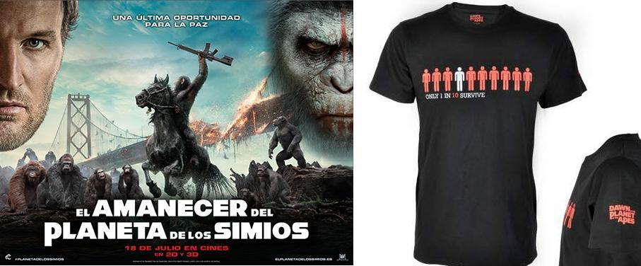 Concurso Camisetas El Amanecer del planeta de los simios