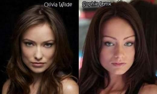 Olivia Wilde y Sophie Lunx, especial dobles porno